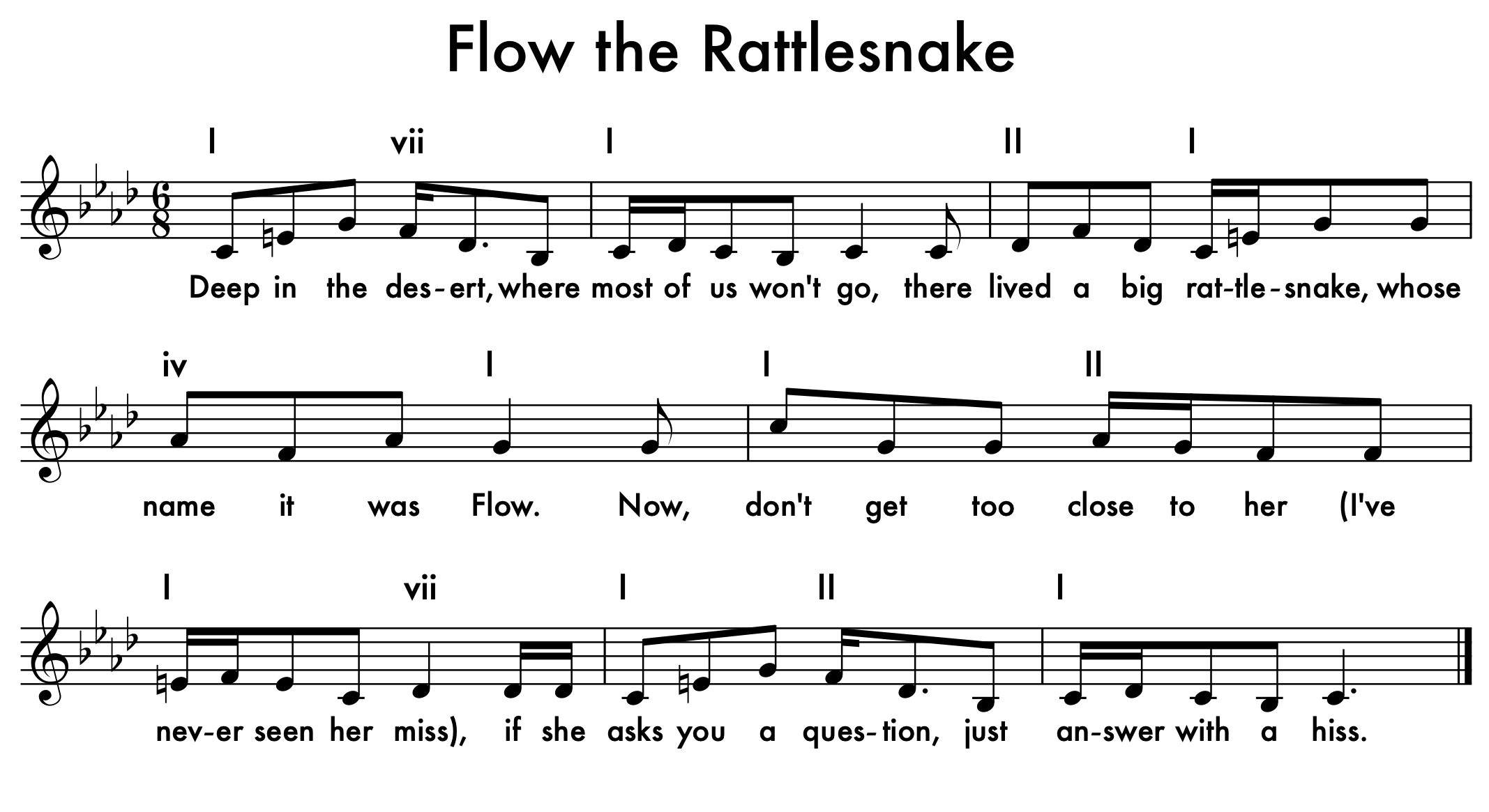 Flo the Rattlesnake-melody