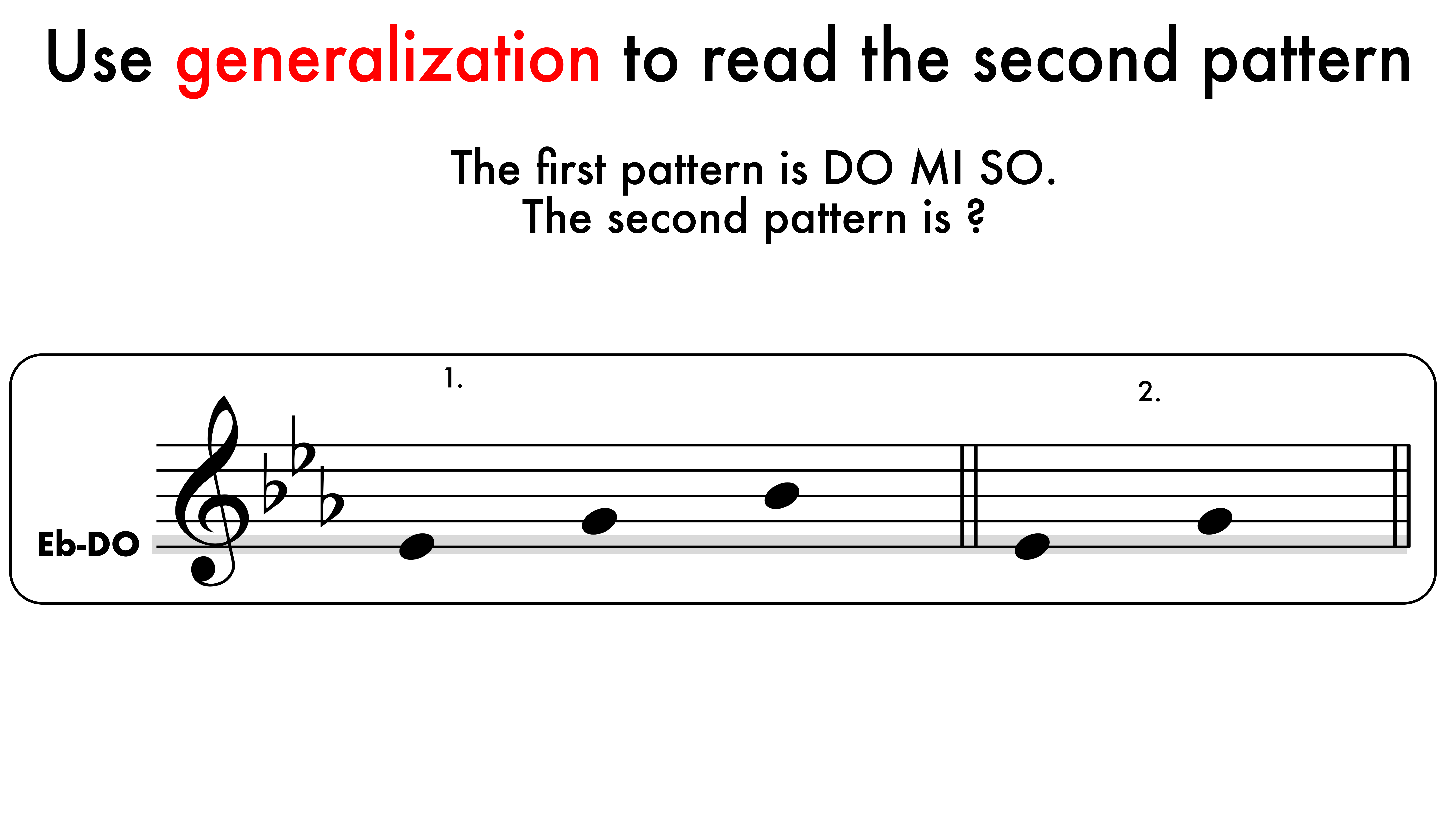 """1.6 Generalizing Tonic Patterns5 copy - """"The Literate Musician"""" Teacher Slideshows (2nd edition)"""